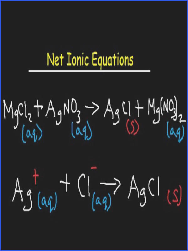 Net Ionic Equation Worksheet and Answers