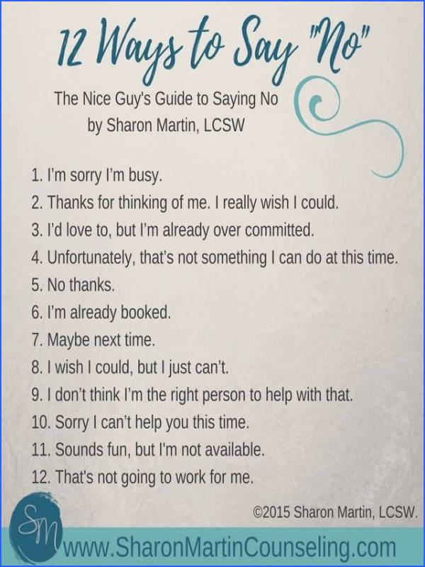 """The Nice Guy s Guide to Saying """"No"""" by Sharon Martin teaches you how to set boundaries without guilt Relationship Tips"""