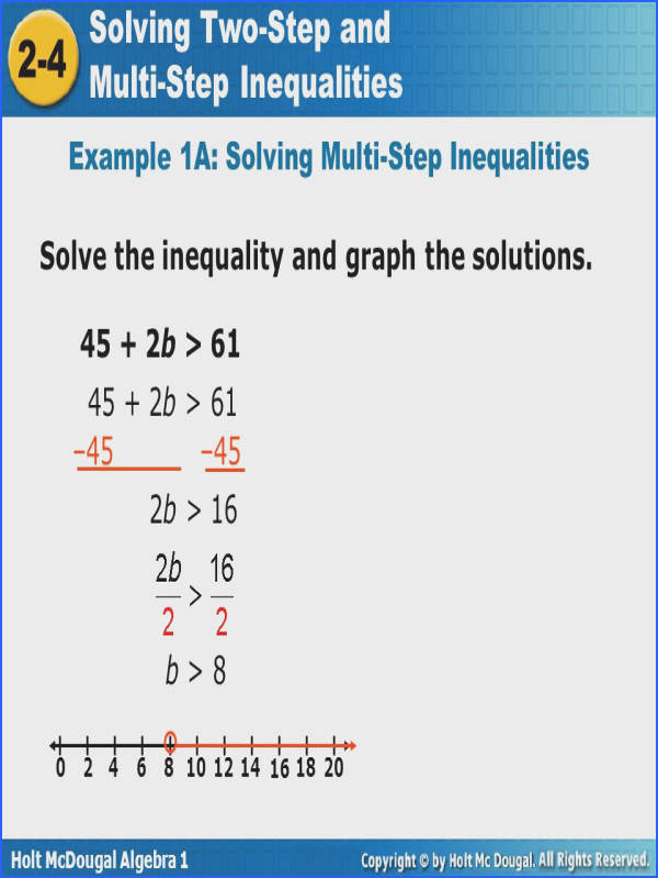 Example 1A Solving Multi Step Inequalities
