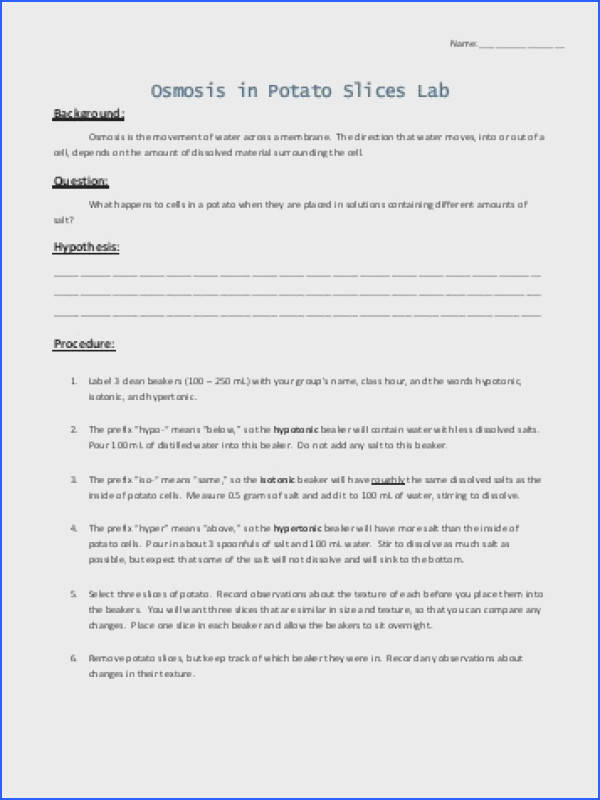 Osmosis and tonicity Worksheet Answers Inspirational Storyboard 3 Observe the