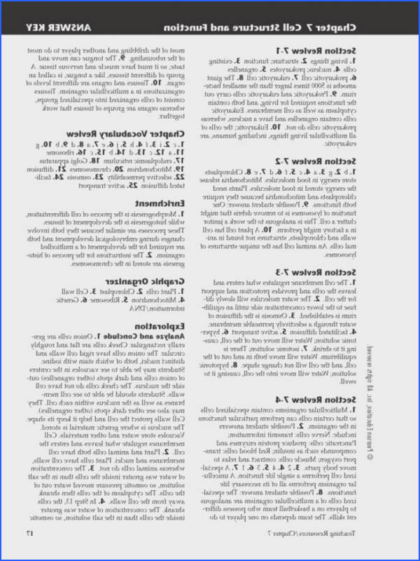 Osmosis and tonicity Worksheet Answers Fresh Chapter 7 Section 4 Cellular Transport Sectional Ideas Collection