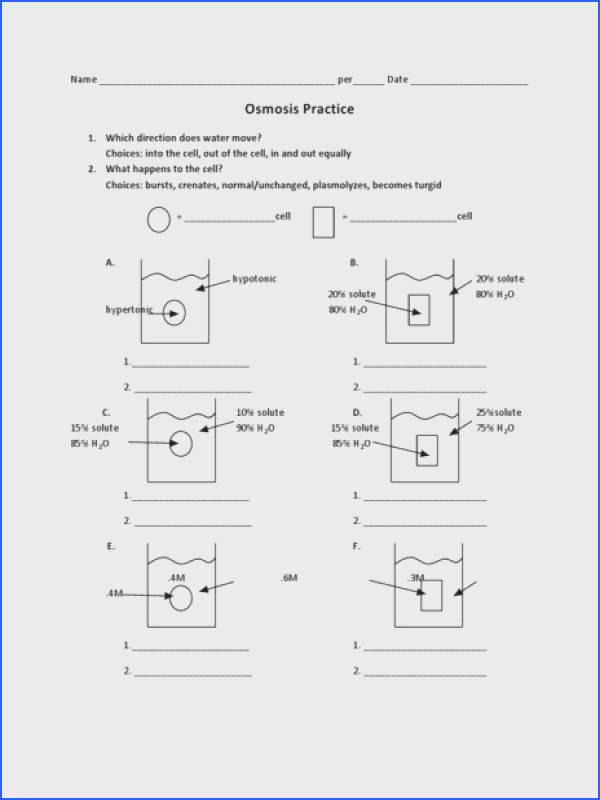Osmosis and tonicity Worksheet Answers Inspirational Osmosis Worksheet Answer Key Switchconf graph Osmosis and tonicity