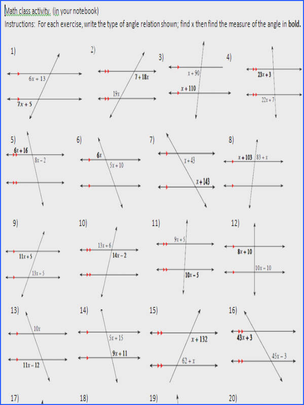 parallel lines and transversal worksheet worksheets for all and share worksheets free on bonlacfoods