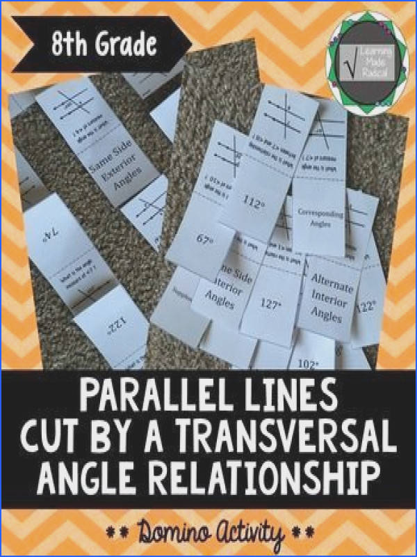 Parallel Lines Cut By A Transversal Domino ActivityNeed a hands on activity that students can do