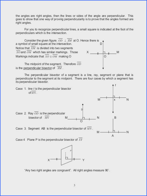 Parallel Perpendicular and Intersecting Lines Worksheet Answers Fresh Module 2 Geometric Relations Parallel Perpendicular