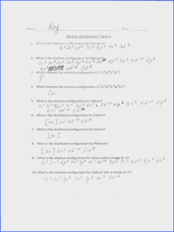 Worksheet Template Electron Configuration Worksheet 2 Answers
