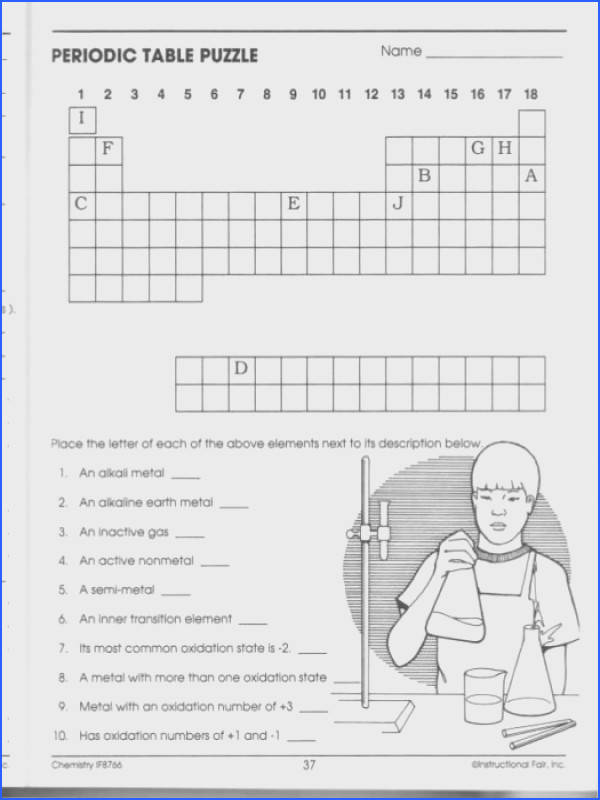 Periodic table puzzle answers an alkali metal periodic periodic table puzzle answers chemistry workbook ch099 18