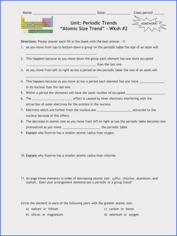 Full Size of Worksheet Template section 6 3 Periodic Trends Worksheet Answers Periodic Trends Worksheet