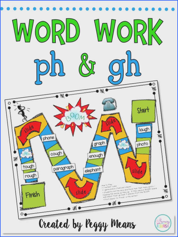 Phonics Word Work ph and gh Literacy Center & Flip Book Here are some
