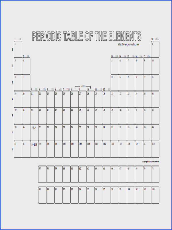 blank table template Blank Periodic Table Elements Pdf