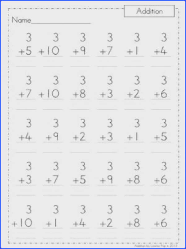 Math Worksheets Addition maybe use basic math problems like these to practice numbers in ASL