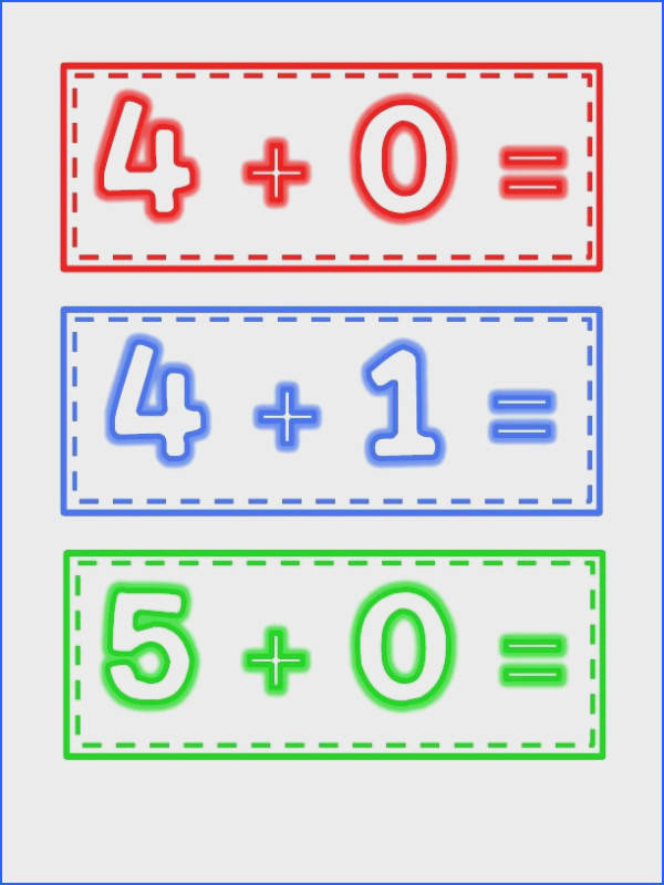 Fluency Flashcards Math Facts to 5 image 2