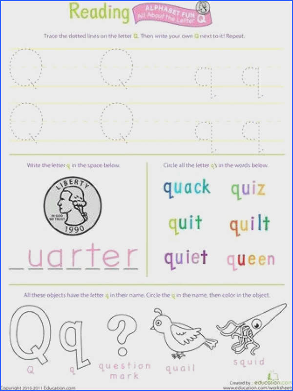 Explore Letter Q Worksheets Awesome Worksheets and more
