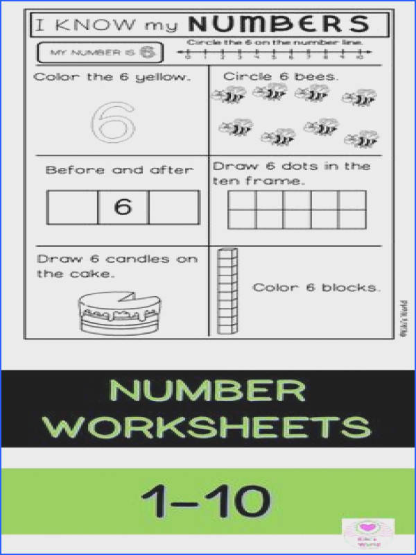 Number worksheets printables to practice your numbers