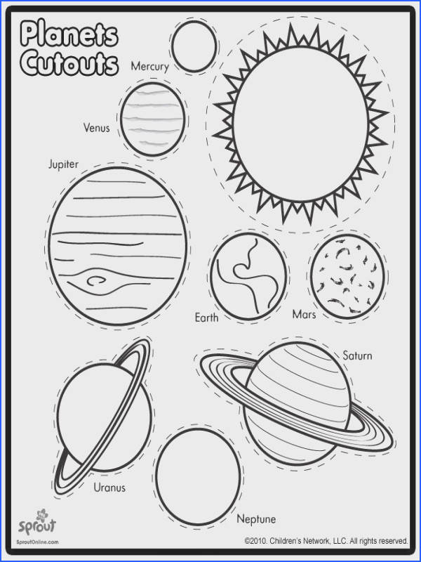 Planets Free Printable Solar System Cut and Paste