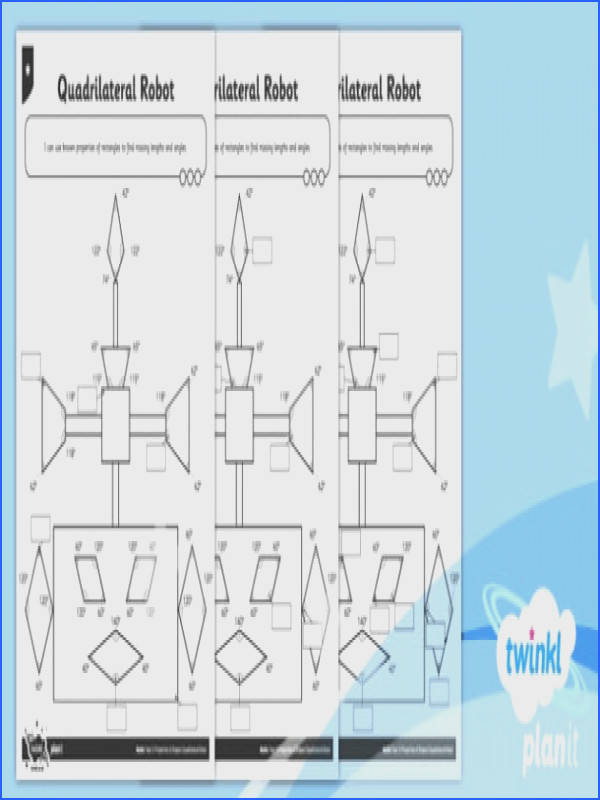 PlanIt Maths Y5 Properties of Shapes Quadrilateral Robot Home Learning