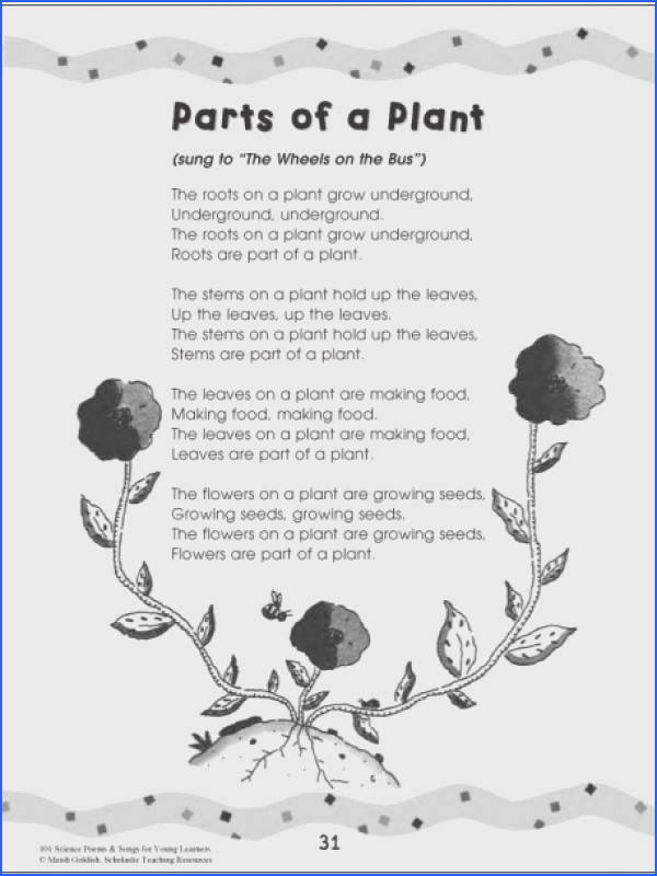 Plant poems 101 Science Poems & Songs For Young Learners