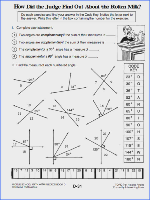 plementary Supplementary And Vertical Angles Worksheets Worksheets for all Download and Worksheets