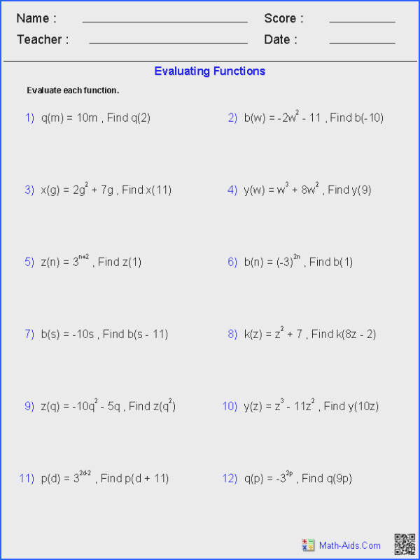 Polynomial Functions Worksheet Worksheets for all Download and Worksheets