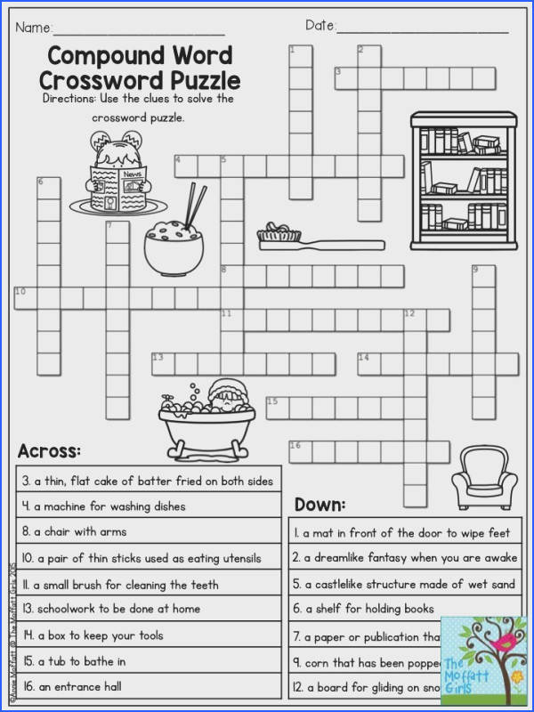 pound Word Crossword Puzzle TONS of printables to keep children engaged and having FUN