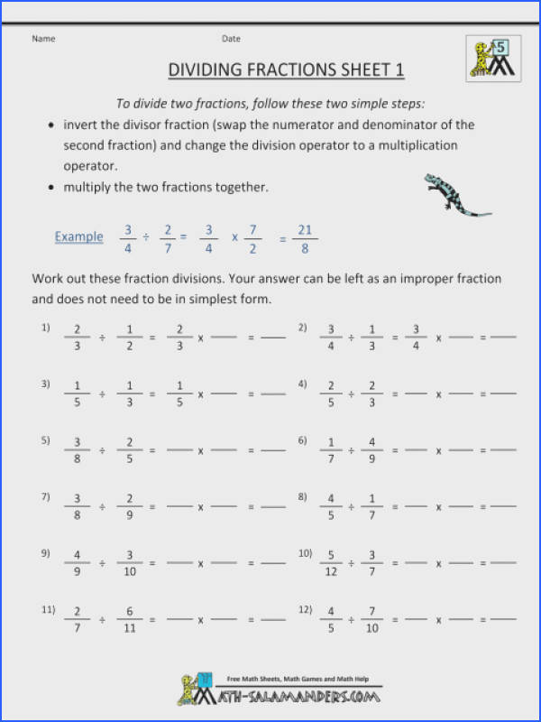 Dividing Fractions With Whole Numbers Worksheet How To Divide Into Worksheets Unit By Word Problems Multiplying