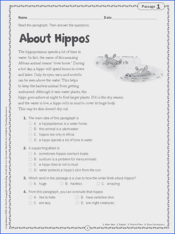 Free Reading prehension Worksheets Printable Preview Page 4