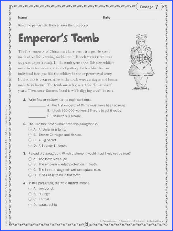 View r Play Pause Preview Page 6 prehension Passages For Grade 3 Pdf