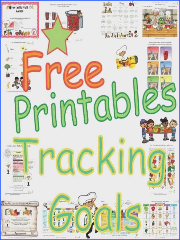 Print free healthy goals tracking sheets for kids Print goal setting sheets to encourage healthy