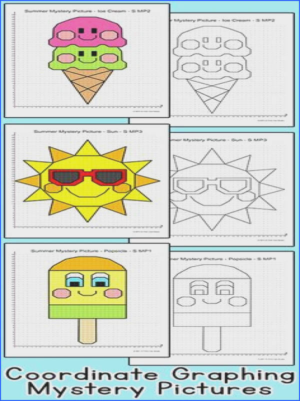 Coordinate Graphing Ordered Pairs Summer End of the Year Activity