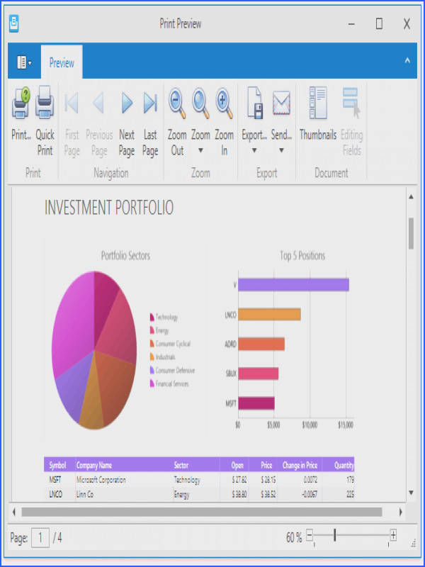 Note that blank worksheets are not displayed or printed You can also print the current workbook via the Preview window by clicking the Print button in