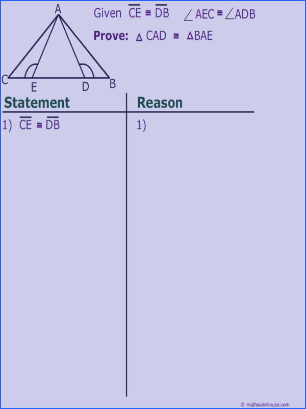 Proofs Involving isosceles Triangles theorems Examples and Image Below Triangle Congruence Proofs Worksheet
