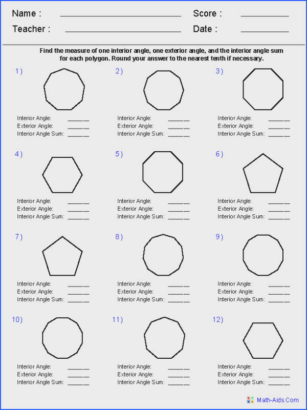 Properties Polygons Worksheet Worksheets for all Download and Worksheets