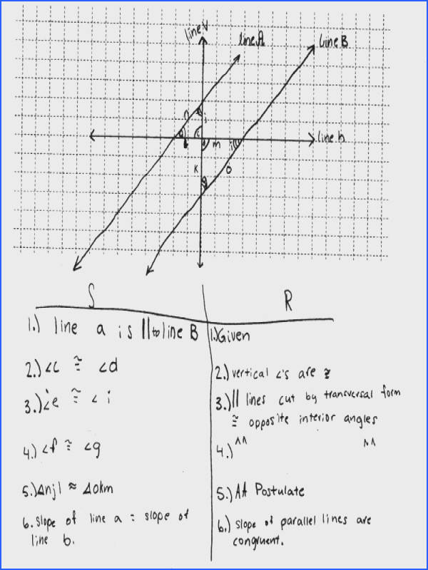 Proving Slope Criterion For Parallel Lines e Students Are