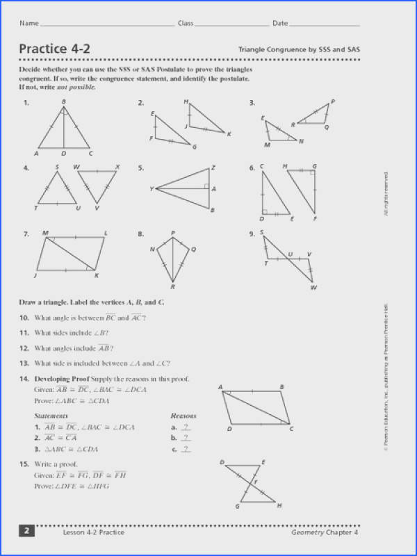 Proving Triangles Congruent Worksheet Lovely High School Geometry Proofs Worksheets Free Worksheets Library Proving Triangles
