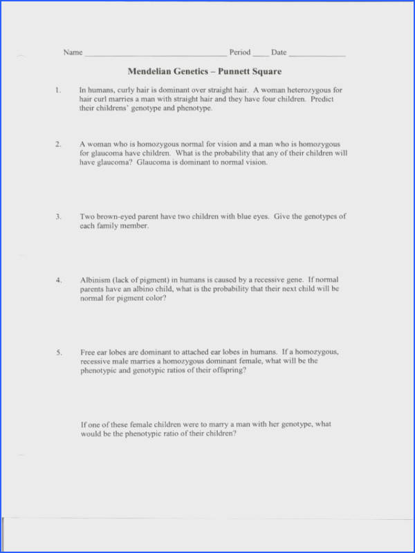 Punnett Square Practice Problems Worksheet Answers Delibertad · 17 Best images about Genetics on Pinterest
