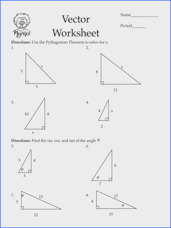 Pythagorean Theorem Word Problems Worksheet Pythagorean Theorem Worksheets Cos Law Worksheet Pdf Math Word Problems