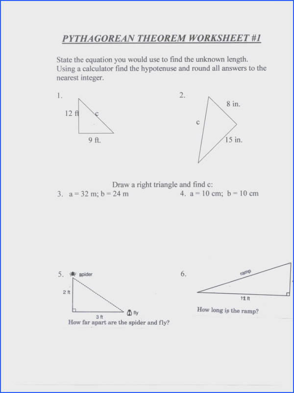 math pythagorean theorem worksheets pythagorean theorem