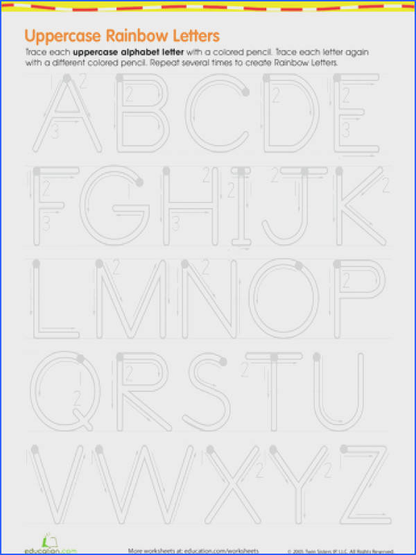 Rainbow Letters Practice Writing Uppercase Letters
