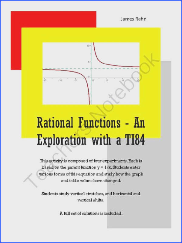 Rational Functions An Exploration with a TI84 from jamesrahn on TeachersNotebook