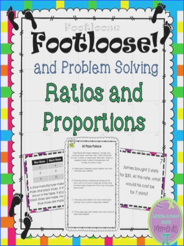 Footloose great for students to be moving while working on ratios and proportions Easy