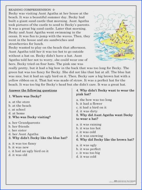 Reading prehension for beginner and Elementary Students 3 worksheet Free ESL printable worksheets made by teachers