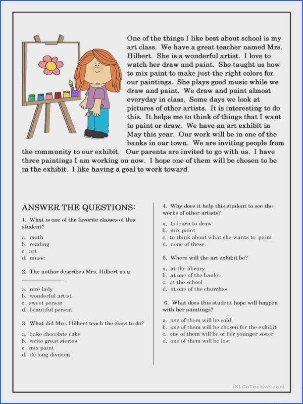 Reading prehension for beginner and Elementary Students 5