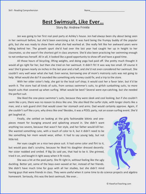 Reading Customs and traditions 5th grade reading prehension worksheet