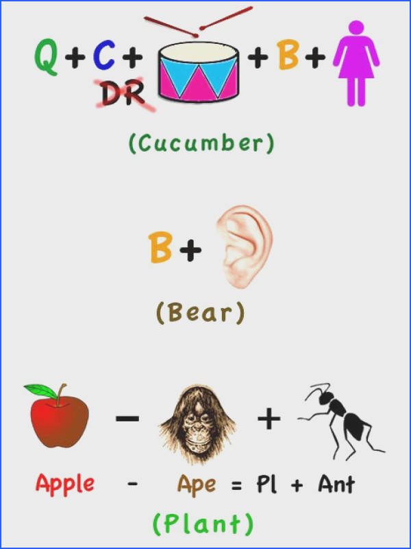 Rebus Riddles to make my day Good brain quizzes for elementary kids in the morning