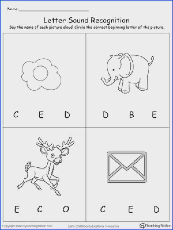 Learn the alphabet and the sound of the letters by identifying which letter the picture starts