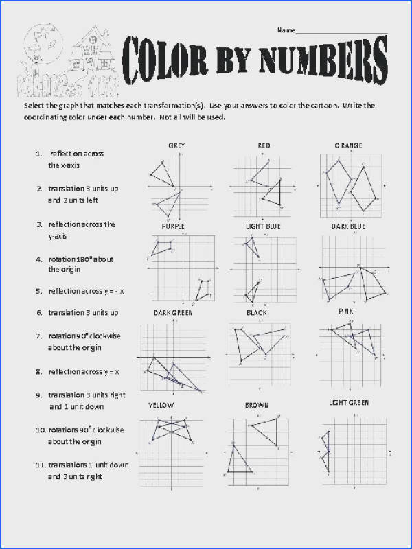 reflection worksheet answers as well as transformations color by numbers inspiring 253 reflection worksheet answers