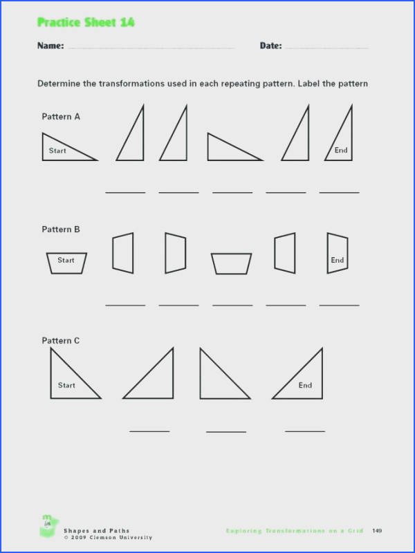 reflection worksheet answers for i teach inquiry translation reflection and rotation translations math workts answers practice