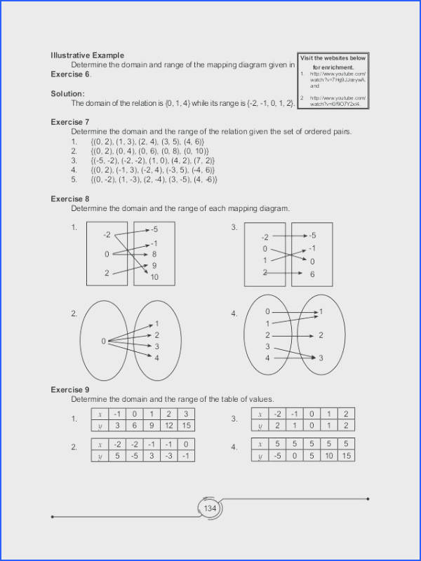 """Domain And Range Worksheet 2 And Back Gallery For Domain And Range A Function Worksheet""""""""sc"""" 1""""st"""" """"streamcleanfo"""
