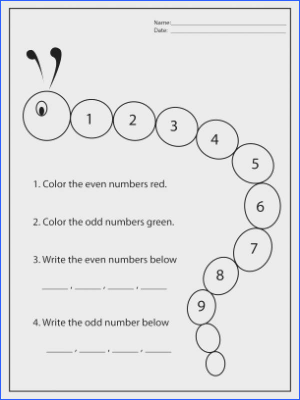 REPIN and LIKE this Color in Odd and Even Worksheets