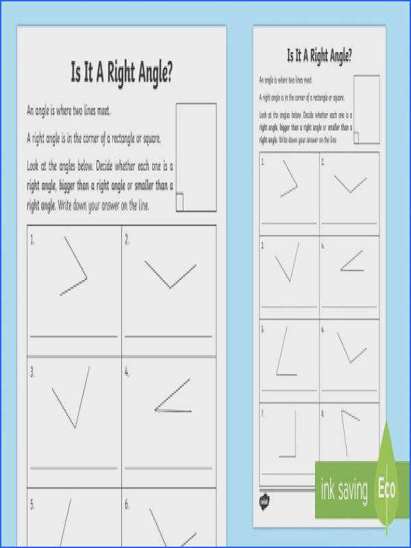 Right Angles Worksheet Activity Sheet maths numeracy angles right angles